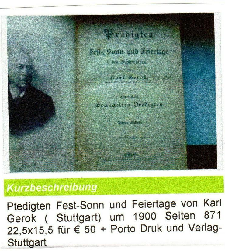 Predigen F.Sonn u. Feiertage 1900 für € 30 - Musik, Foto & Kunst - Bild 1