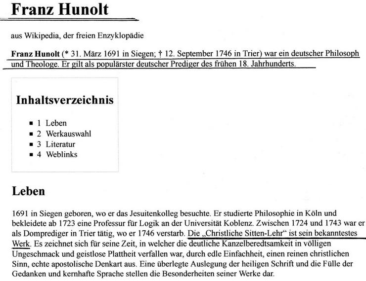 Sitten Lahre  Ev.Wahrheit v.1746 € 40