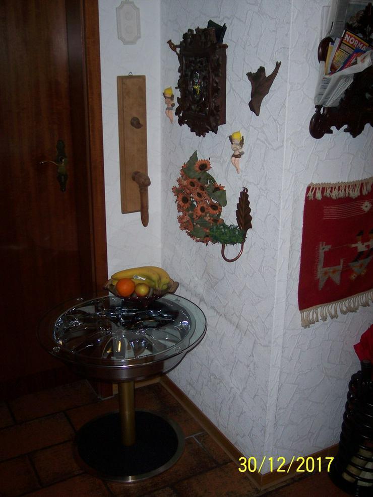 Bild 6: Beistelltisch Felgentisch Couchtisch Chromfelge