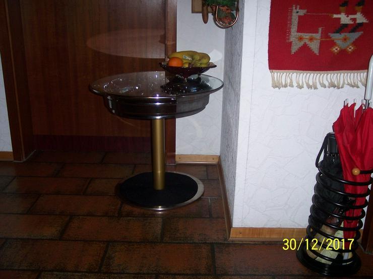 Bild 4: Beistelltisch Felgentisch Couchtisch Chromfelge