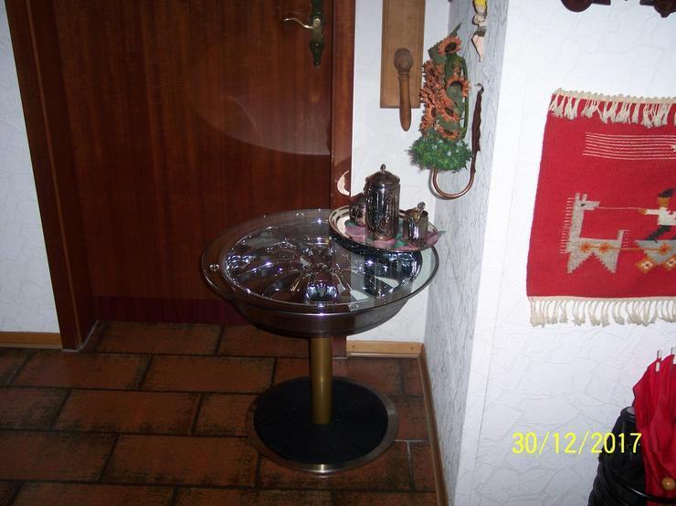 Bild 3: Beistelltisch Felgentisch Couchtisch Chromfelge