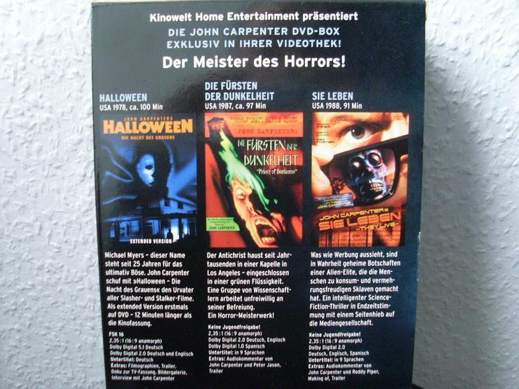 Bild 3: John Carpenter - Master of Darkness 3 DVD Box