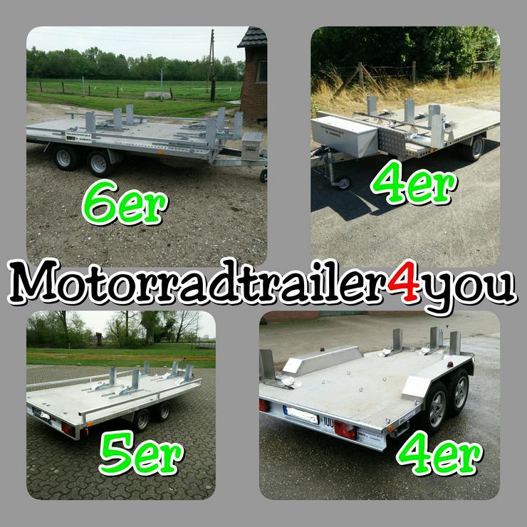 Motorradanhänger, für 3,4,5,6 Motorräder mieten