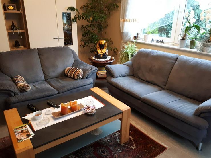 Sitzgarnitur 3+2+1 Stoff Velour - Sofas & Sitzmöbel - Bild 1