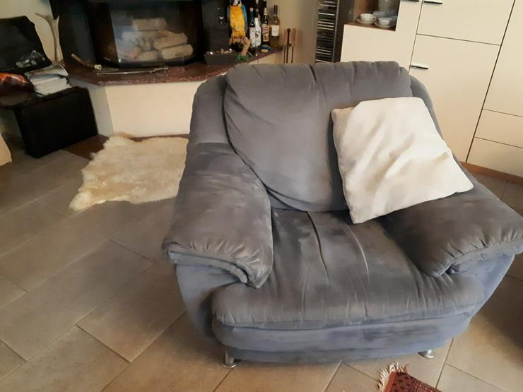 Bild 4: Sitzgarnitur 3+2+1 Stoff Velour