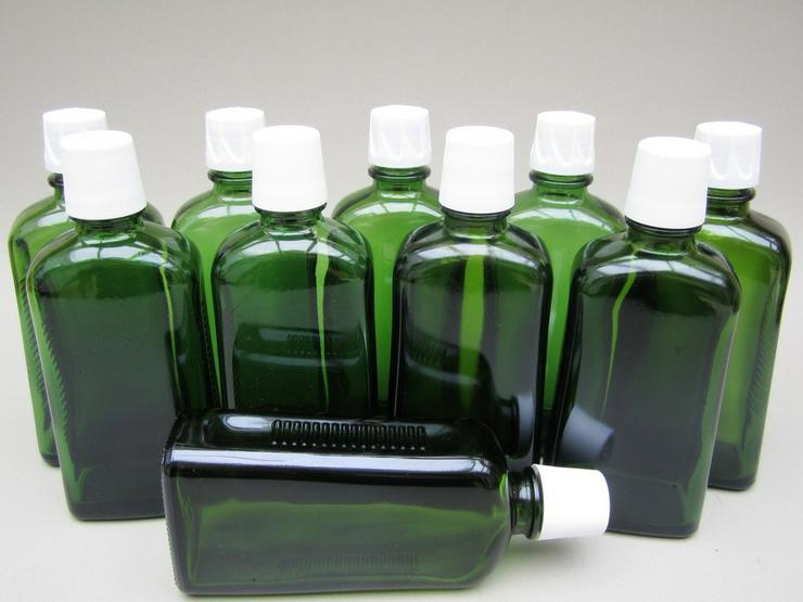 Weleda leere Glasflaschen grün 10 Stk 200ml