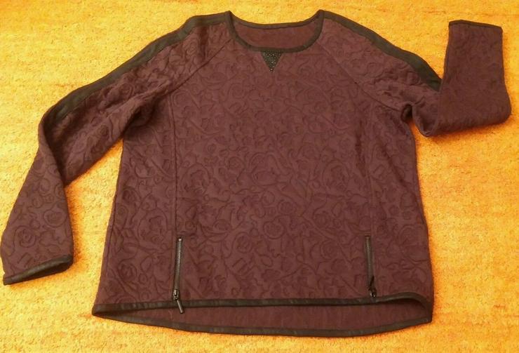 Neu Damen Pullover, Geprägter Blumen Gr.40