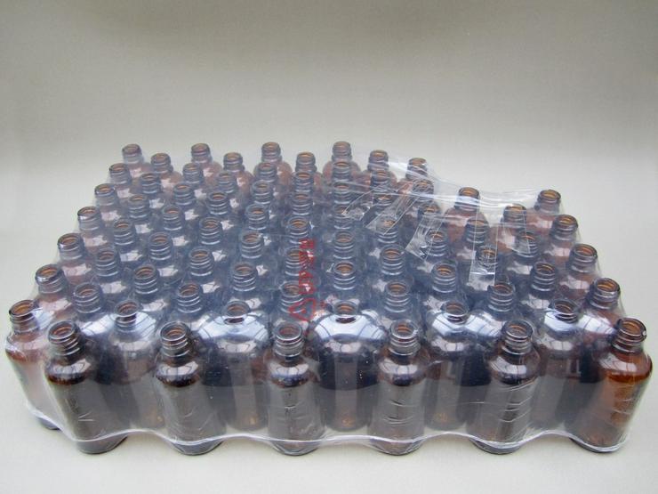 Braunglasflaschen 76Stk 50ml rund ohne Verschl