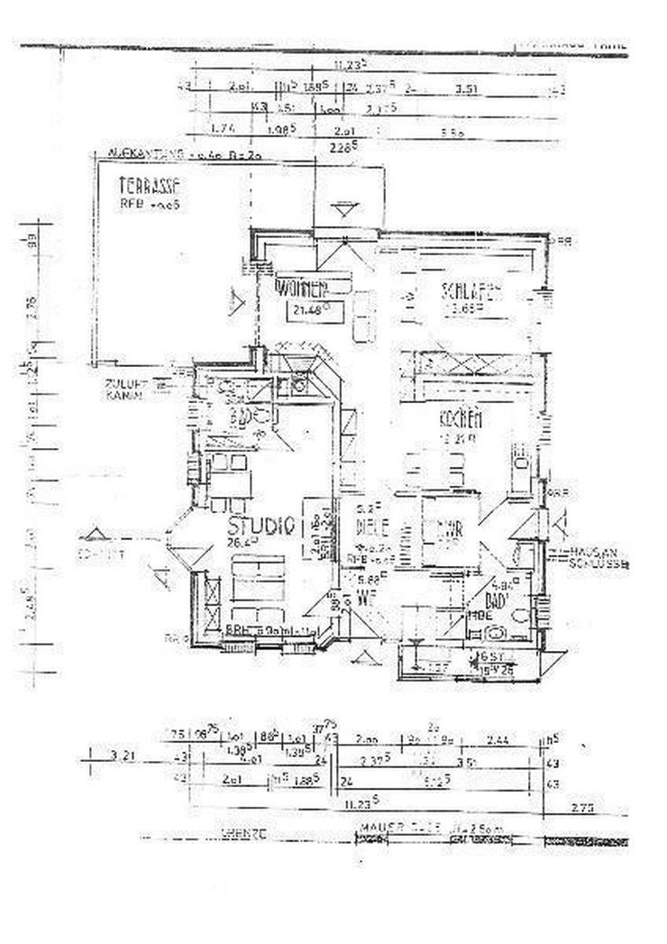 schicke 3 Zimmerwohnung mit Garten u. Wintergarten in Jever - Wohnung mieten - Bild 1