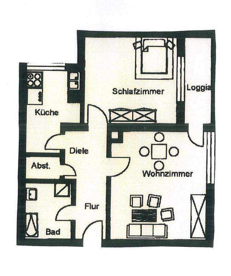 TOP: Frisch renovierte 2 Zimmer Wohnung mit Balkon in Neuburg - sofort Bezug möglich -SOW... - Bild 1