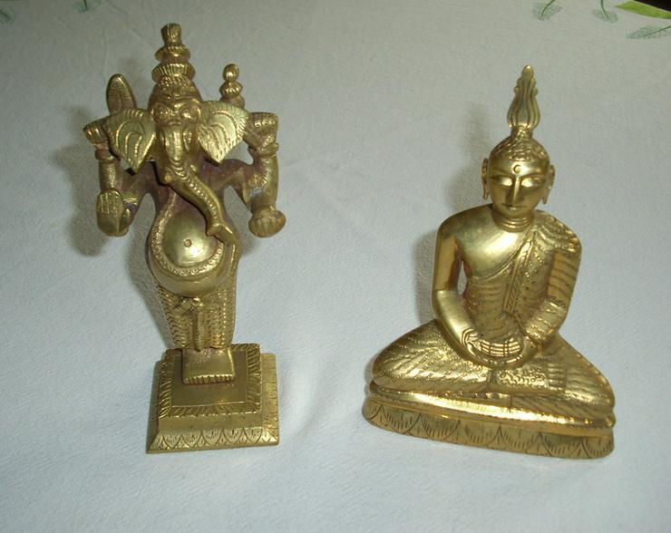 2 Figuren aus Messing