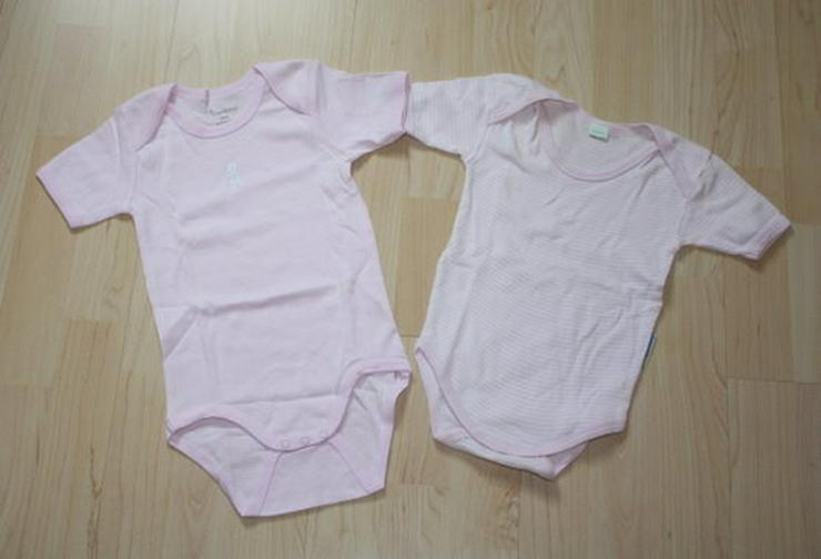 Baby Body Mädchen Kurzarmbodys rosa-weiß 74-92