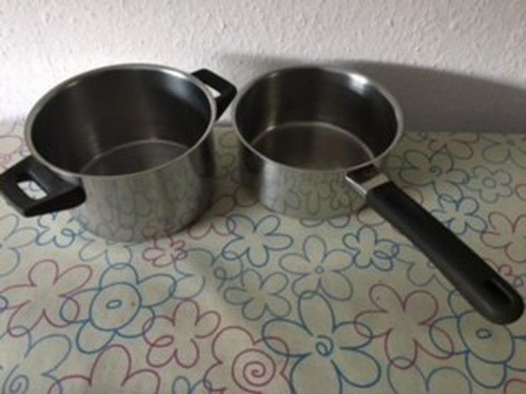 Kasserolle und kleiner Kochtopf m. Deckel