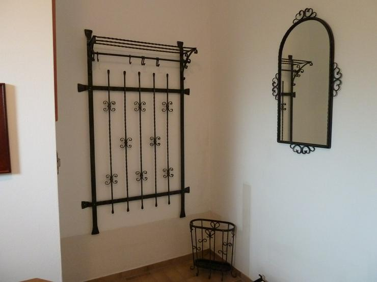 4-teilige schmiedeeiserne Garderobe - Spiegel & Rahmen - Bild 1