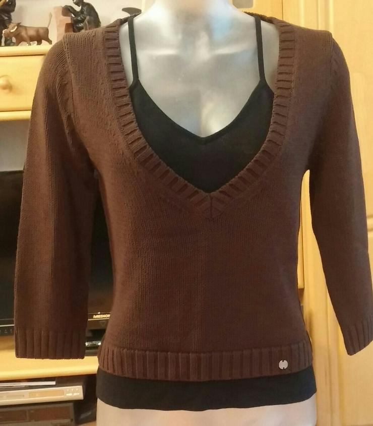 Damen Pullover 2 in 1 strick Designer Gr.38 - Größen 36-38 / S - Bild 1
