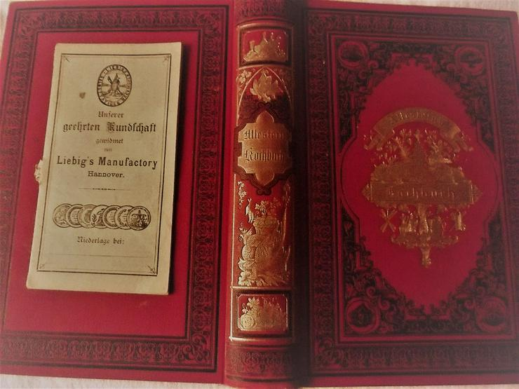 Antikes Kochbuch von 1887 in org. Schachtel l