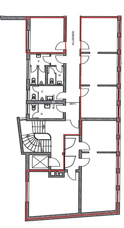 Bild 3: Ideal für Existenzgründer wie Steuerberater o.Ä. - helle, gepflegte Bürofläche direkt...