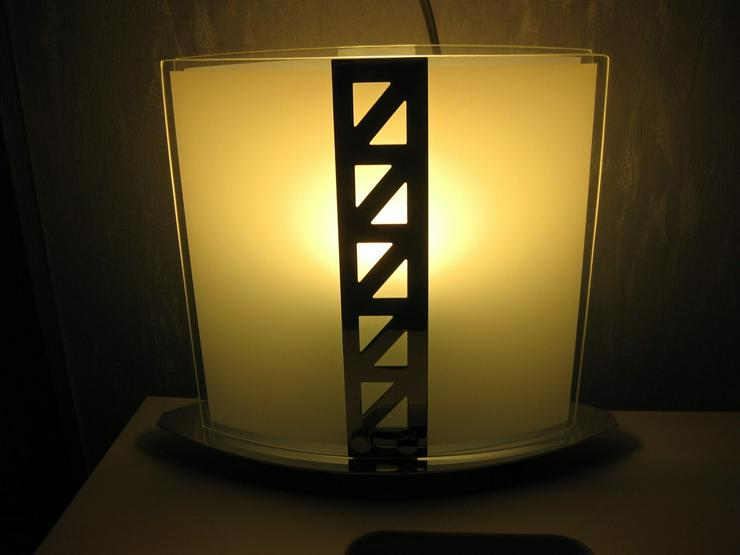 Bild 2: Lampe aus Glas und verchromt