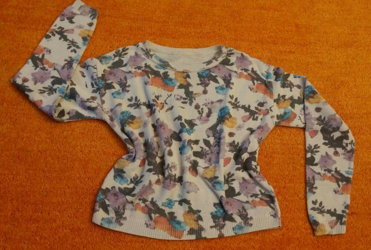 Damen Pullover strick florales Muster Gr. S