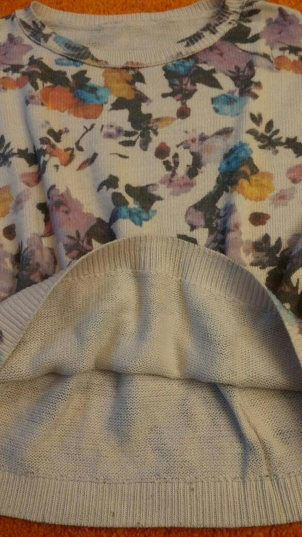 Bild 2: Damen Pullover strick florales Muster Gr. S
