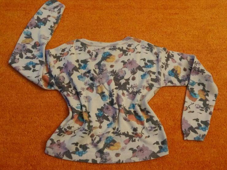 Bild 3: Damen Pullover strick florales Muster Gr. S