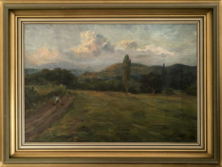 Gemälde MAX FLEISCHER, Bauern auf Java 1912! - Bild 1