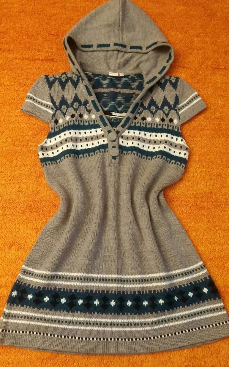 Damen Kleid Norweger Strick Tunika Gr.40