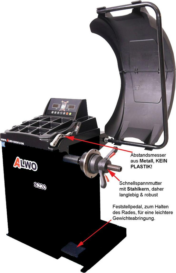Bild 2: Alwo Reifenwuchtmaschine S220 bis 24 Zoll