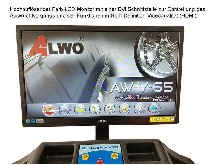 Bild 2: Alwo Reifenwuchtmaschine AW-V-65