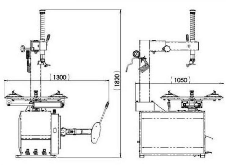 Alwo Reifenmontiergerät Alwo T521 bis 21Zoll - Zubehör - Bild 4