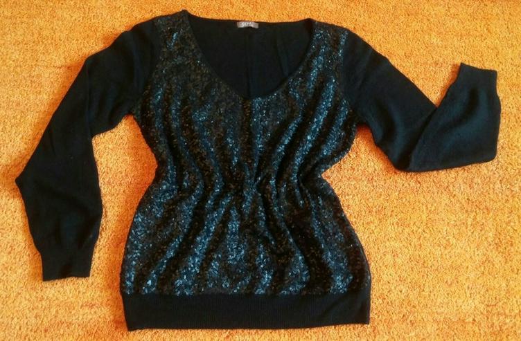 Damen Pullover Angora strick Pailletten Gr.M