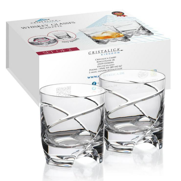 2er Whiskeyset German Roulette, Bleikristall - Gläser - Bild 1