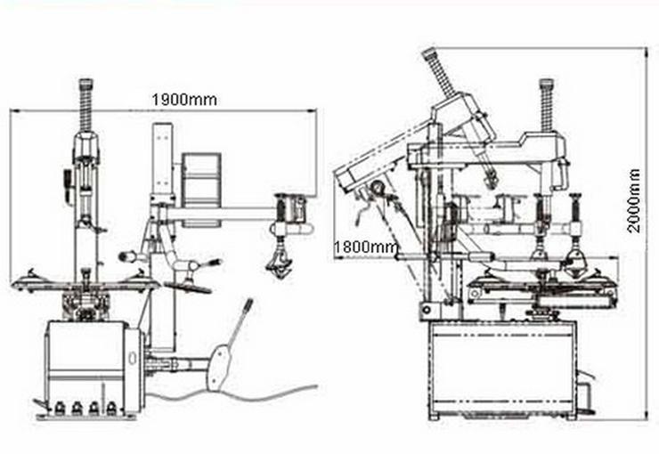 Bild 3: Alwo Montiermaschine T624R AUTOMATIK Hilfsarm