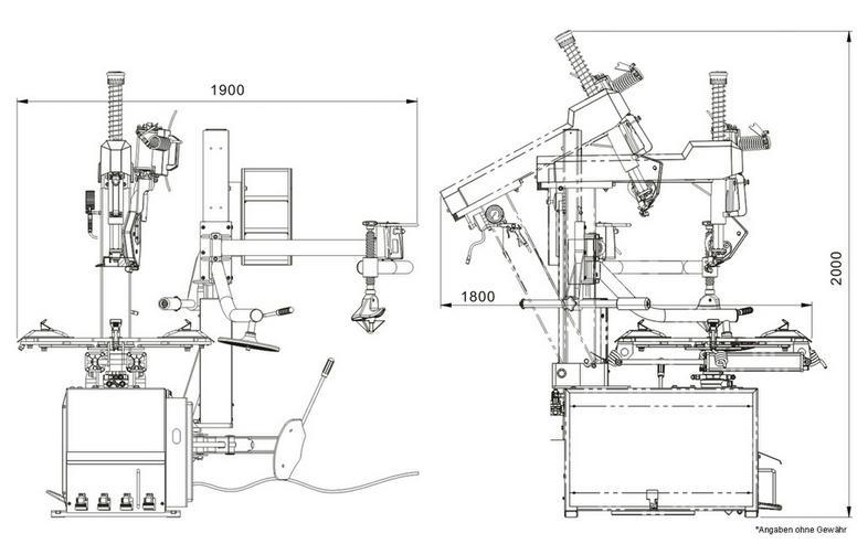 Bild 6: Alwo Montiermaschine T624RS bis 24 Zoll