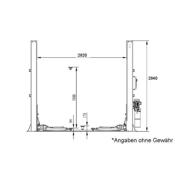 Bild 2: Alwo 2 Säulen Hebebühne 4x3tlg. BLACK