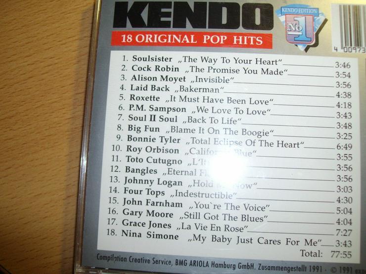 Bild 2: CD KENDO: 18 ORIGINAL POP HITS, tanzbar, klasse