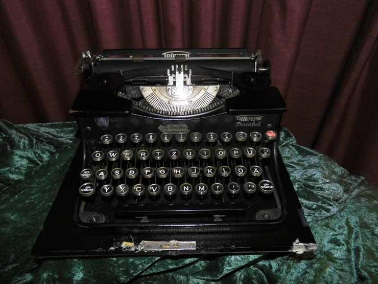 Antike Schreibmaschine Triumph / Typwriter Dur - Schreibmaschinen & Bürotechnik - Bild 1