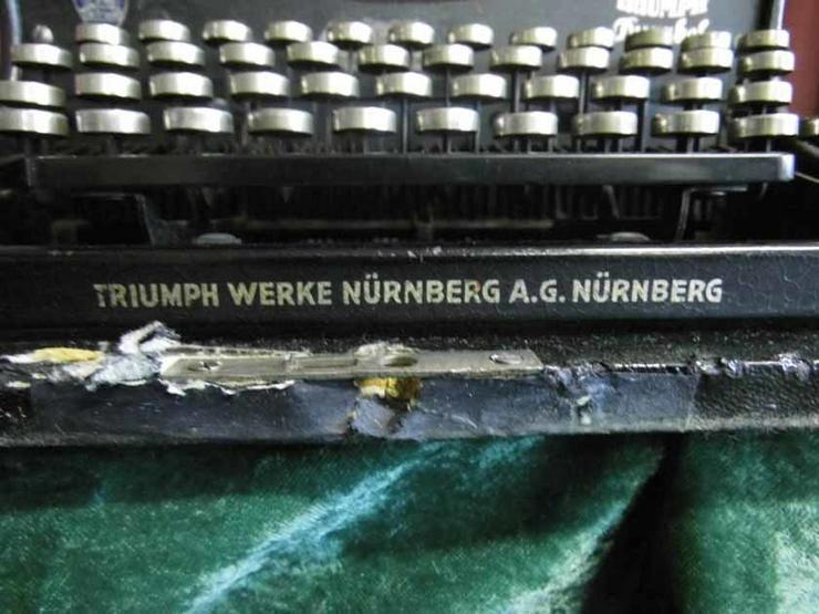 Bild 3: Antike Schreibmaschine Triumph / Typwriter Dur