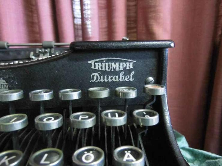 Bild 4: Antike Schreibmaschine Triumph / Typwriter Dur