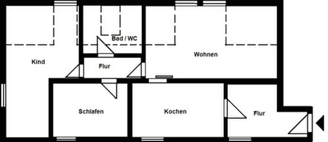 Bild 3: Geräumige 3-Raum-Wohnung!