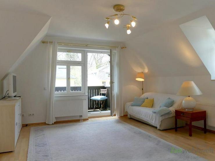 (EF0335_M) Dresden: Klotzsche, möblierte 3-Zimmer-Etagenwohnung mit Balkon im traumhaft s... - Wohnen auf Zeit - Bild 1