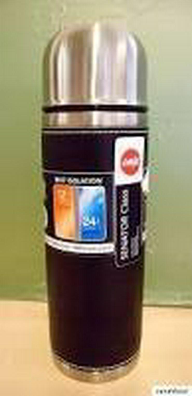 Emsa 502435 Isolierflasche mit Leder - 0,7 l
