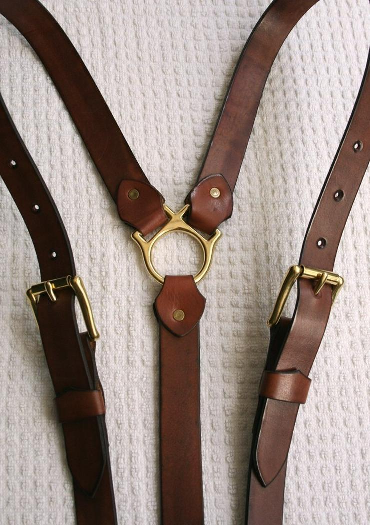 Hosenträger Leder Handmade Vintage