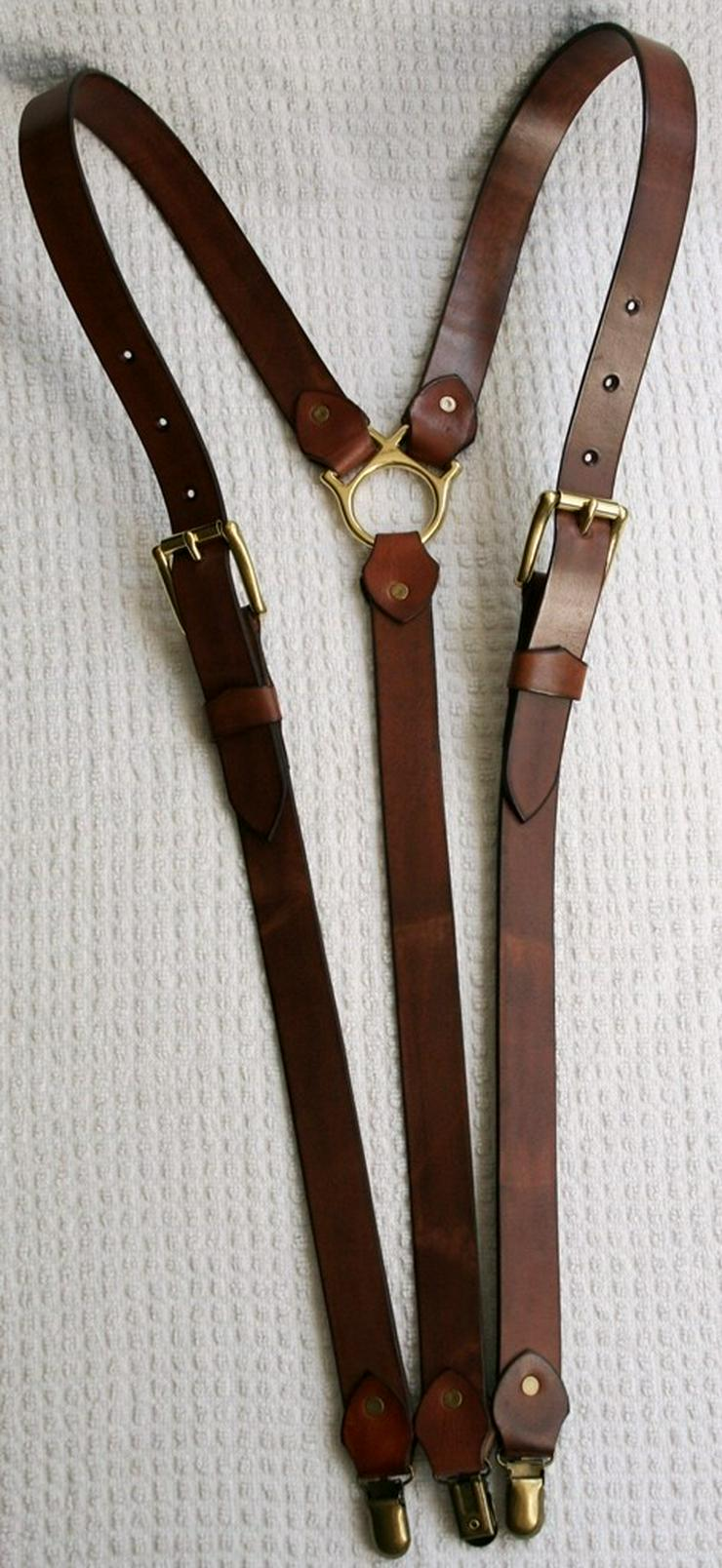 Bild 2: Hosenträger Leder Handmade Vintage