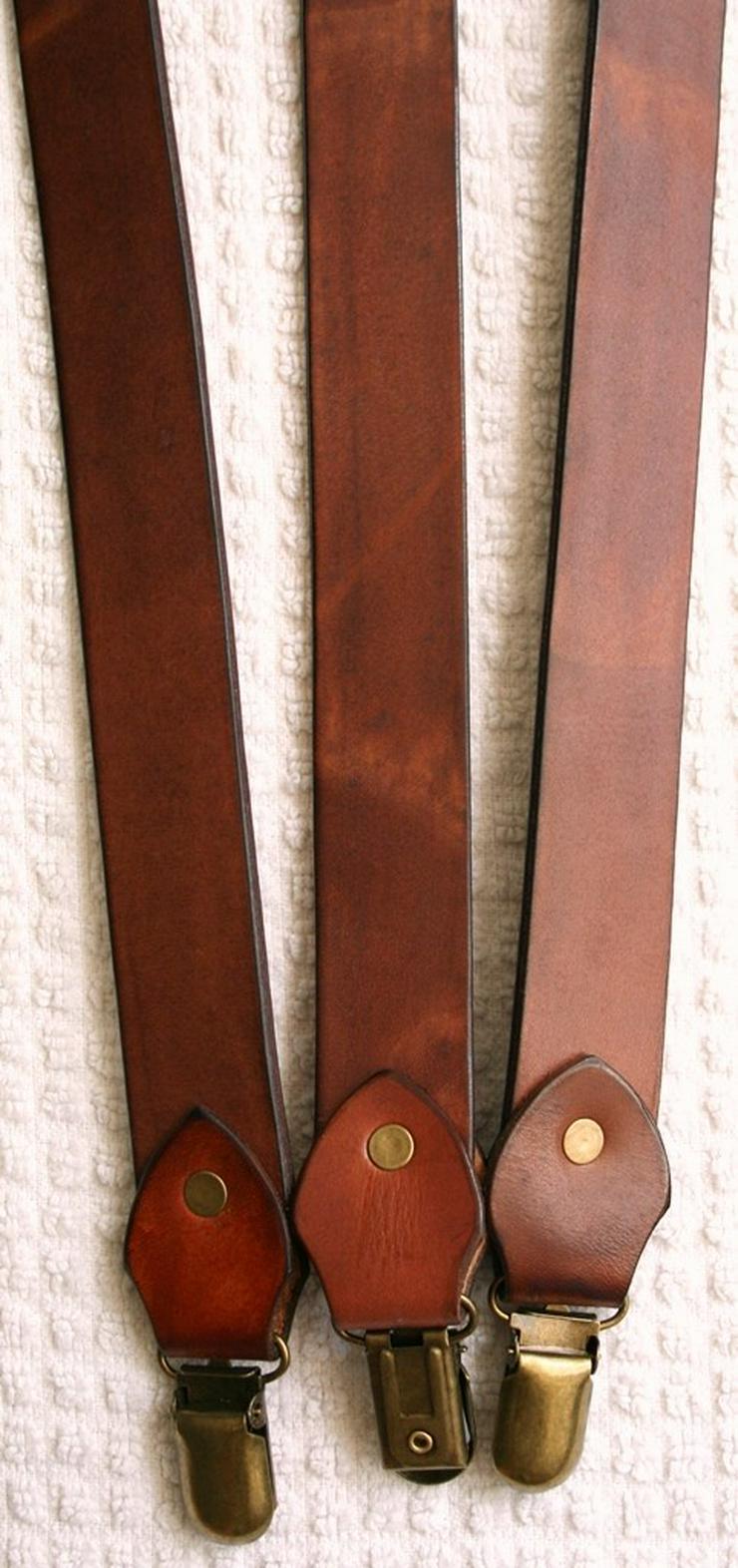 Bild 3: Hosenträger Leder Handmade Vintage