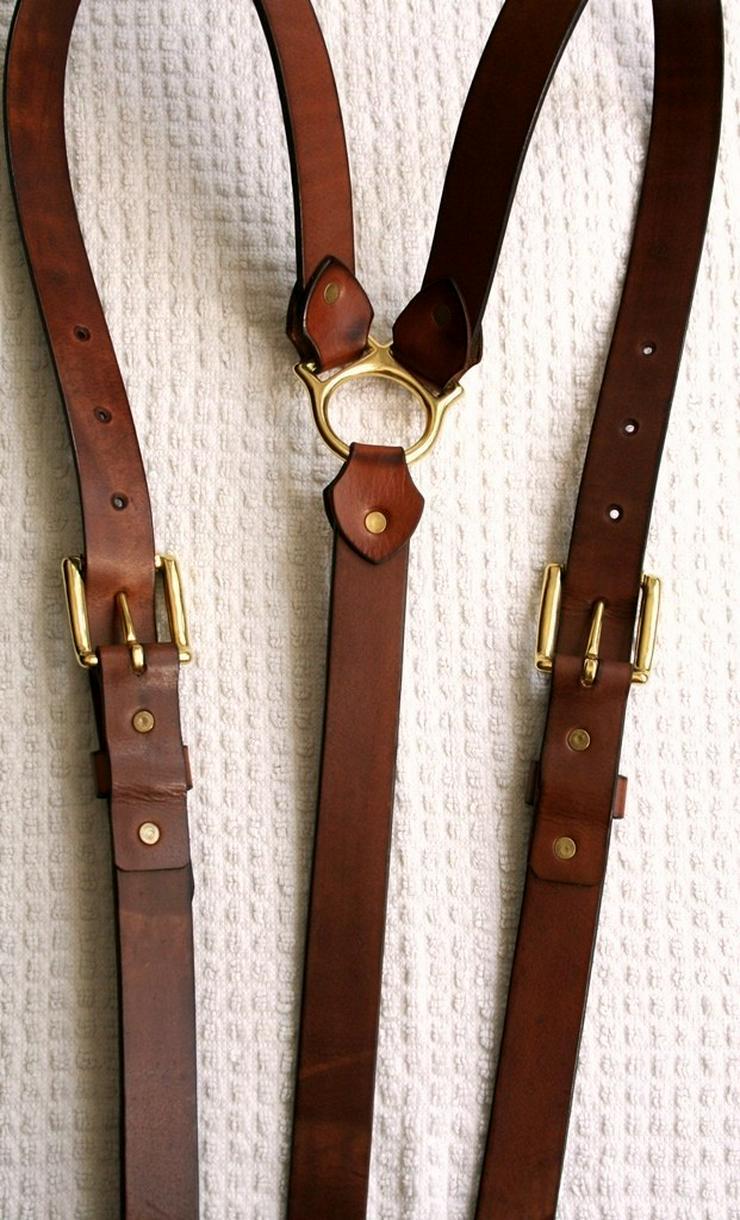 Bild 4: Hosenträger Leder Handmade Vintage