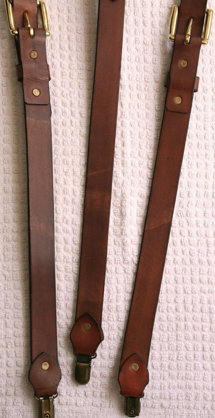 Bild 5: Hosenträger Leder Handmade Vintage