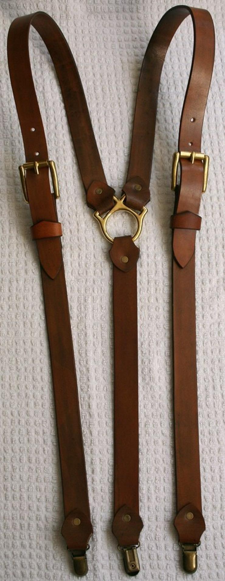 Bild 6: Hosenträger Leder Handmade Vintage