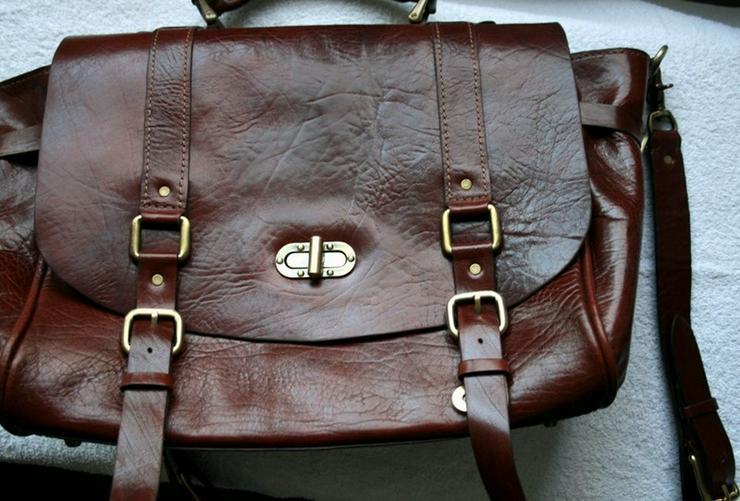 Tasche Leder Vintage Handmade Luxus - Bild 1