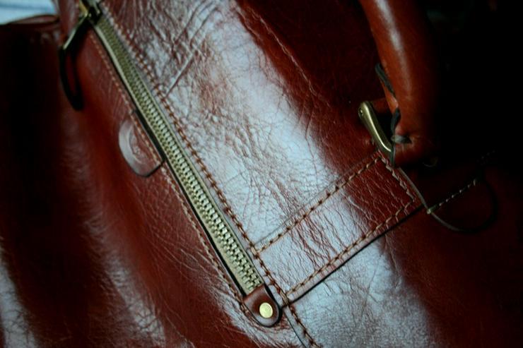 Bild 3: Tasche Leder Vintage Handmade Luxus